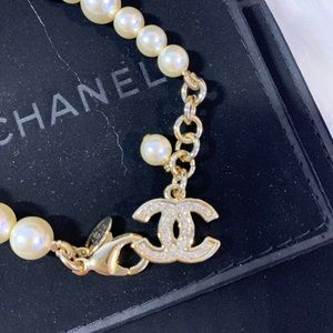 CHANEL Jewelry - Chanel pearl and gold bracelet